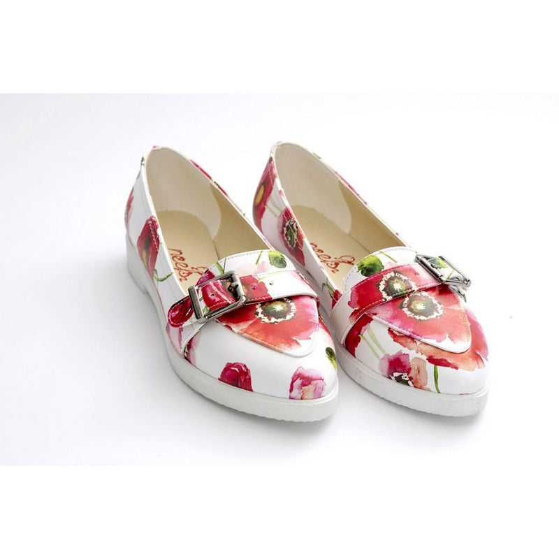 Flowers Slip on Sneakers Shoes NTS411 (770216099936)