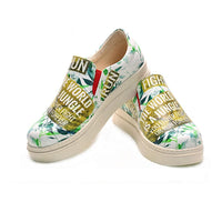 The World is a Jungle Slip on Sneakers Shoes NVN102