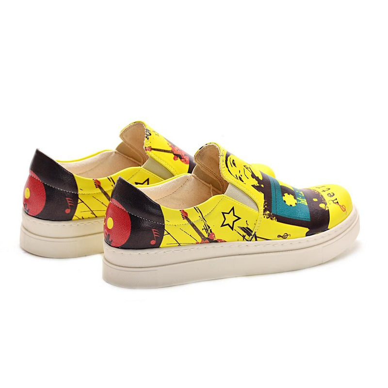 Retro Music Slip on Sneakers Shoes NVN103 (770216329312)