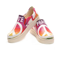 Love Peace Slip on Sneakers Shoes NVN105