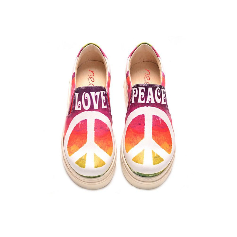 Love Peace Slip on Sneakers Shoes NVN105 (770216394848)