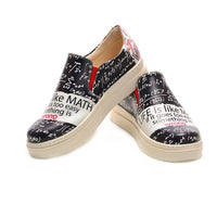 Life is Like Math Slip on Sneakers Shoes NVN112