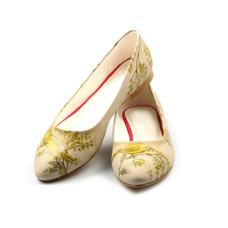 Golden Birds Ballerinas Shoes NVR201 (770217148512)