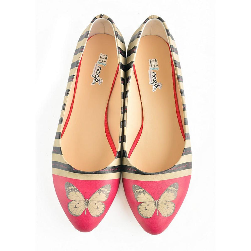 Butterfly Ballerinas Shoes NVR204 (770217214048)