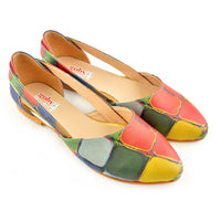 Colored Stones Ballerinas Shoes OMR7001