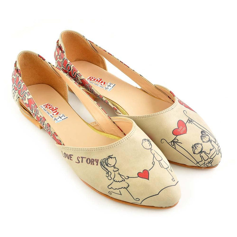 Couple in Love Ballerinas Shoes OMR7002 (506269958176)