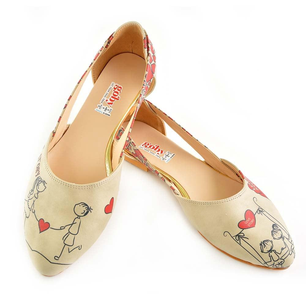 GOBY Couple in Love Ballerinas Shoes OMR7002