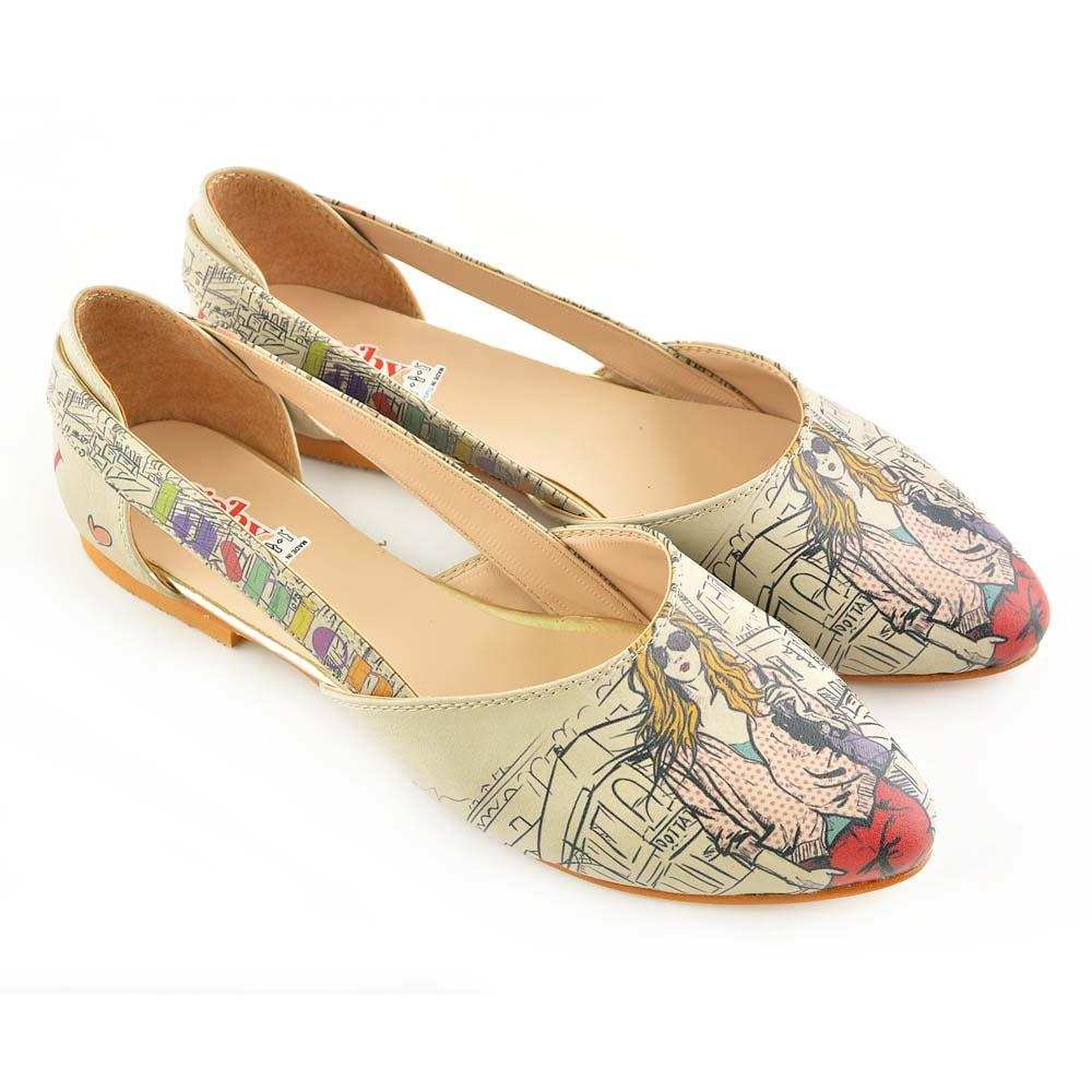 GOBY Fashion Girl Ballerinas Shoes OMR7004