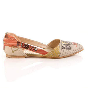 I Love You Ballerinas Shoes OMR7005
