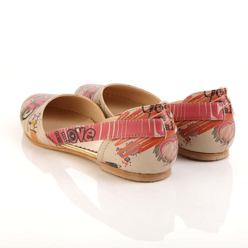 I Love You Ballerinas Shoes OMR7005 (506270089248)