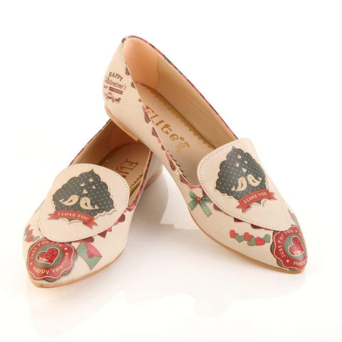 GOBY I Love You Ballerinas Shoes OMR7204