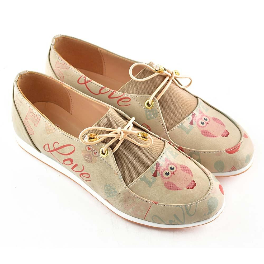 GOBY Owl and Love Ballerinas Shoes OMR7309