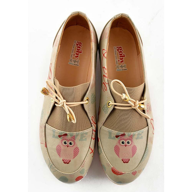 Owl and Love Ballerinas Shoes OMR7309 (506271793184)