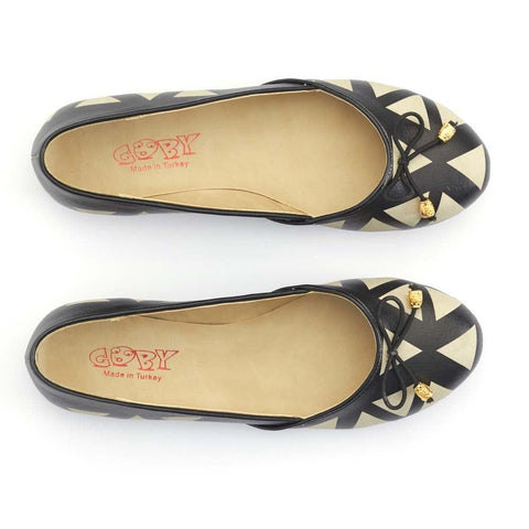 GOBY Pattern Ballerinas Shoes OMR7108