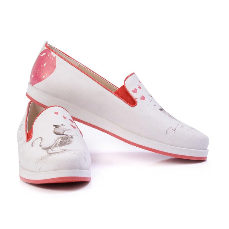 Happy Valentines Day Slip on Sneakers Shoes PAR102 (506271858720)
