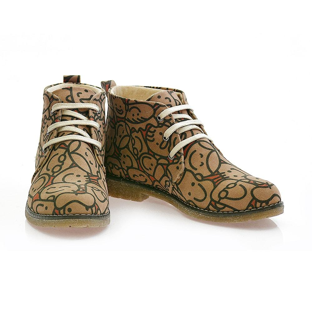 GOBY Face to Face Ankle Boots PH102