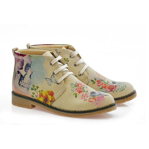 Flowers and Skull Ankle Boots PH210 - Goby GOBY Ankle Boots