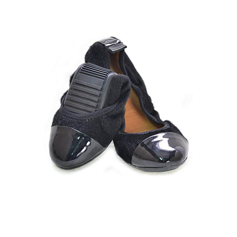 Black Cashmere Ballerinas Shoes and Bag Set RAS107 (1332748255328)