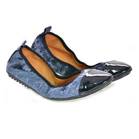 Soft Stripe Dark Blue Ballerinas Shoes and Bag Set RAS113 (1332754612320)