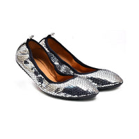 Shiny Black Silver Ballerinas Shoes and Bag Set RAS115 (1332754710624)