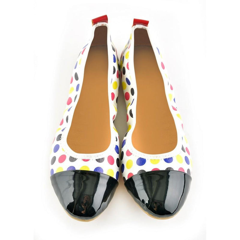 Colored Dots Ballerinas Shoes RAS1611 (1332749205600)