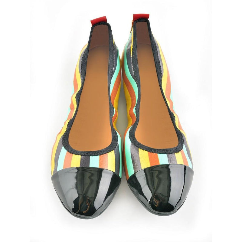 Colored Striped Ballerinas Shoes RAS1613 (1332749271136)