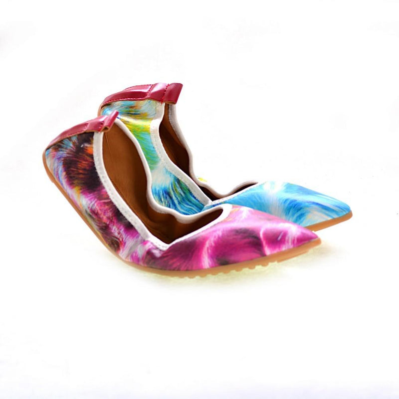 Colored Feather Ballerinas Shoes RAS2508 (1332749762656)