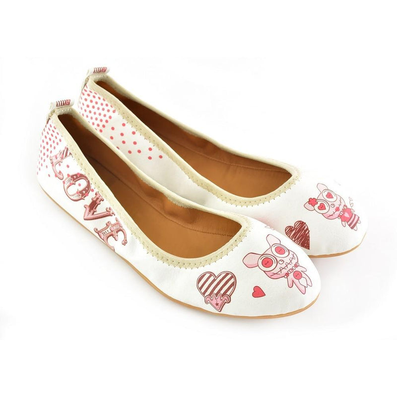 I Love You Ballerinas Shoes RSP103 (1332751859808)