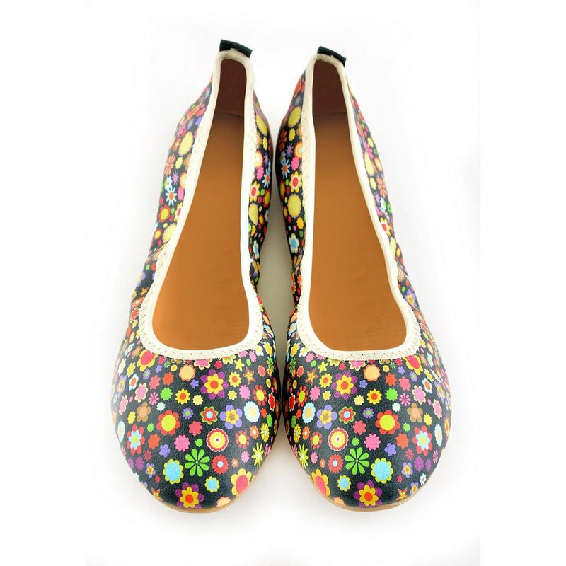 Flowers Ballerinas Shoes RSP104 (1332751892576)