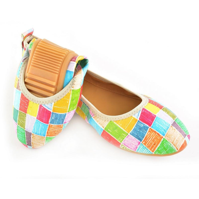 Colored Squares Ballerinas Shoes RSP308 (1332752318560)