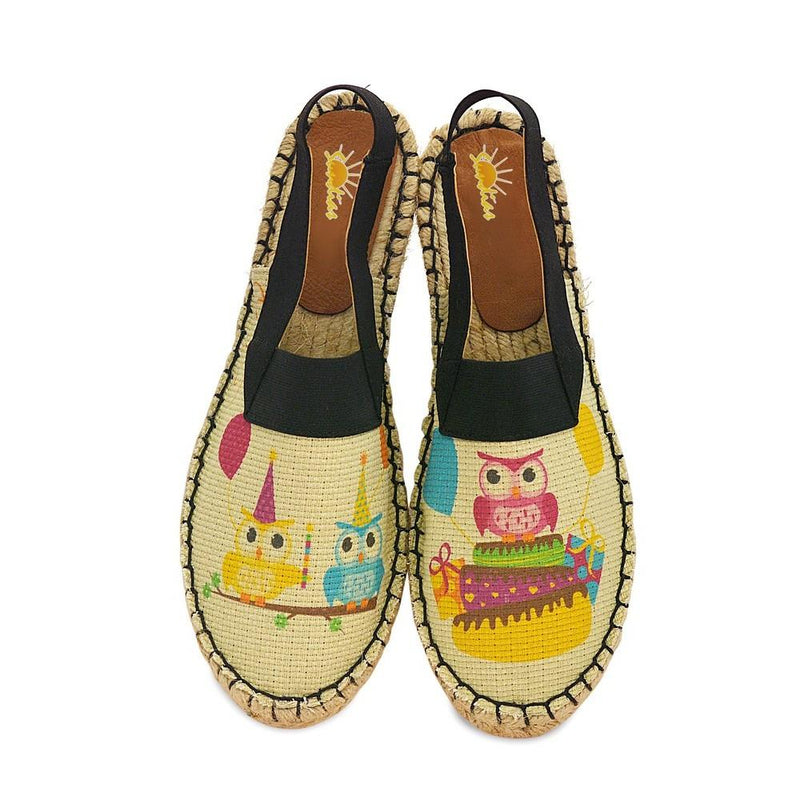 Cute Owls Espadrille Sandals SAN302 (1332761329760)