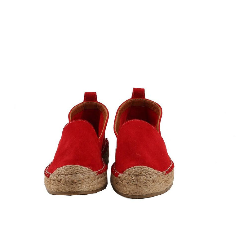 Red Suede Leather Espadrille Shoes SAN503 (1332763459680)