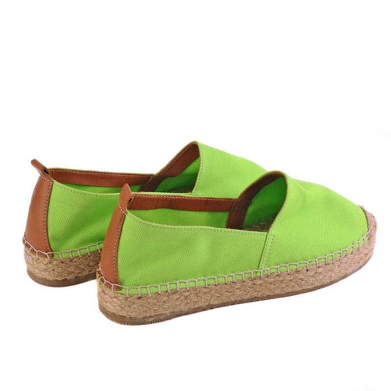 Light Green Linen Espadrille Shoes SAN911 (1332762607712)