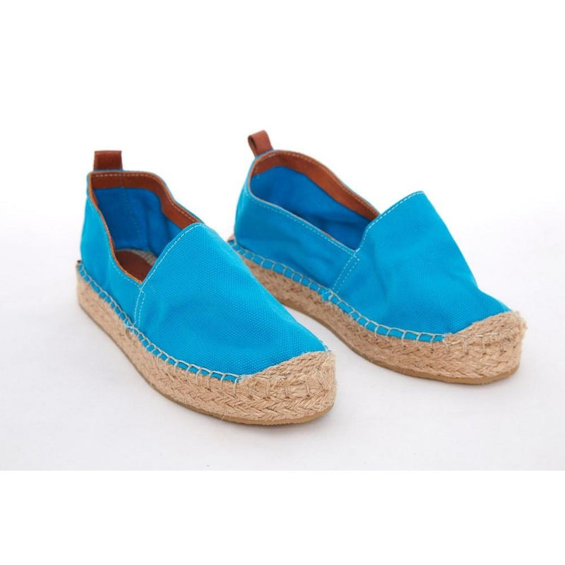 Light Blue Linen Espadrille Shoes SAN930 (1332762673248)