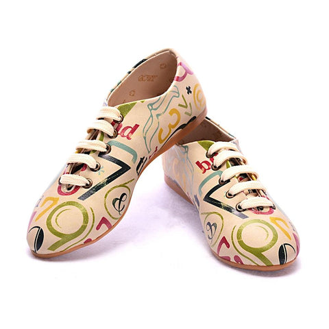 GOBY Numbers Ballerinas Shoes SLV017