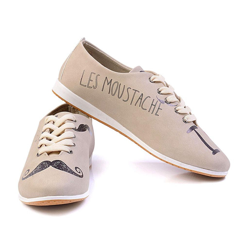Les Moustache Ballerinas Shoes SLV183 (506275561504)