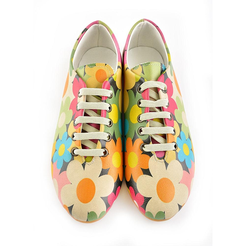 Colored Daisies Ballerinas Shoes SLV064, Goby, GOBY Ballerinas Shoes