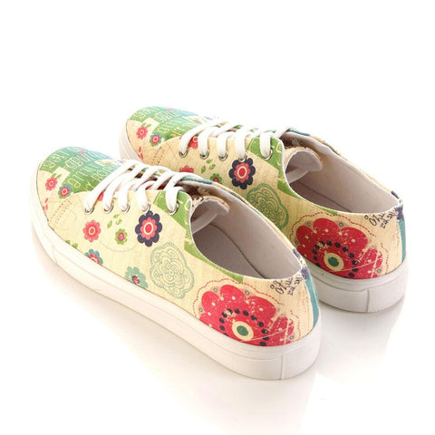 Flowers Slip on Sneakers Shoes SPR5406 - Goby GOBY Slip on Sneakers Shoes