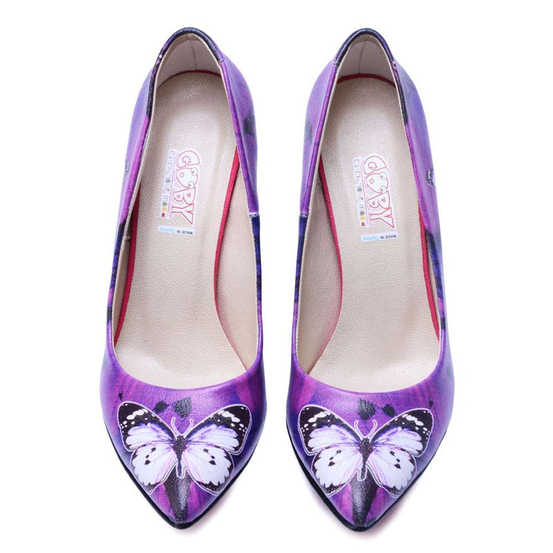 Purple Butterfly Heel Shoes STL4402 (506277396512)