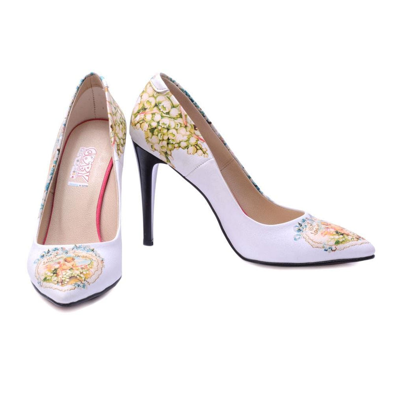 Flowers Heel Shoes STL4406 (506277560352)