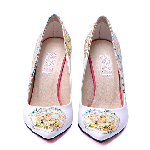 GOBY Flowers Heel Shoes STL4406