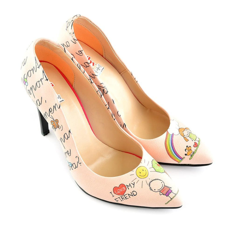 I Love You My Friend Heel Shoes STL4409 (506277625888)