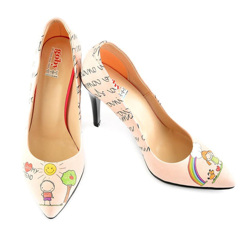GOBY I Love You My Friend Heel Shoes STL4409