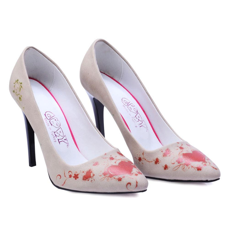 Red Heart Heel Shoes STL4411 (506277691424)