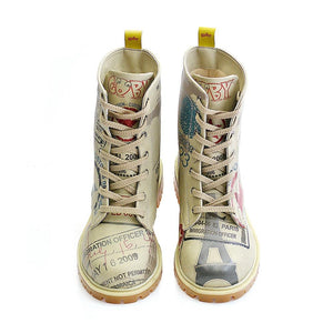 GOBY Army Airplane Long Boots TMB1011