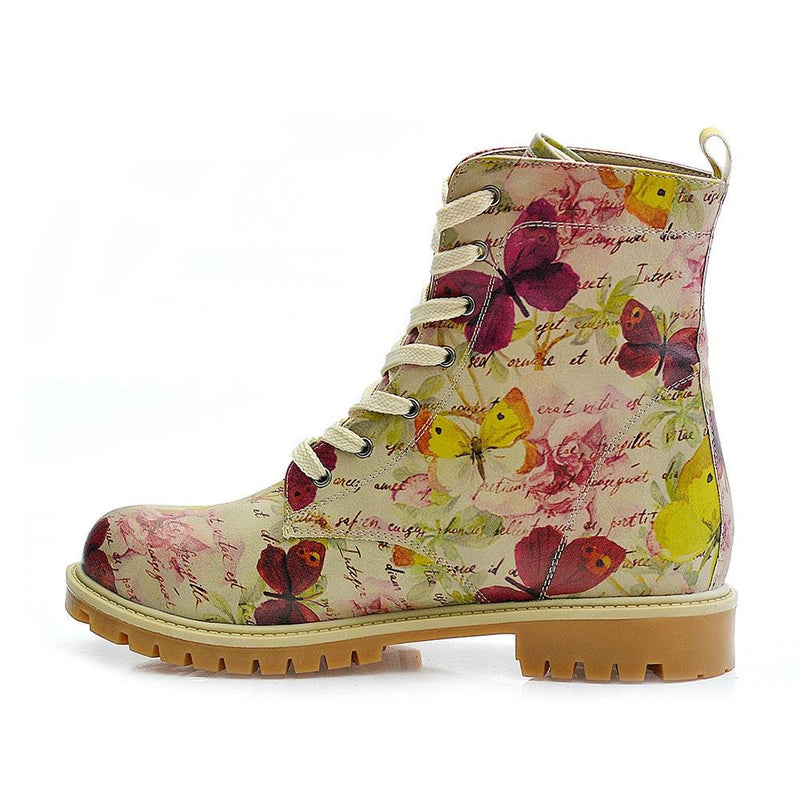 Flowers and Butterfly Long Boots TMB1016 (1405815029856)