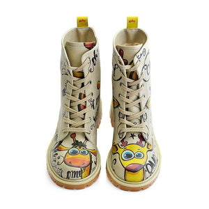 Confused Giraffe Long Boots TMB1029