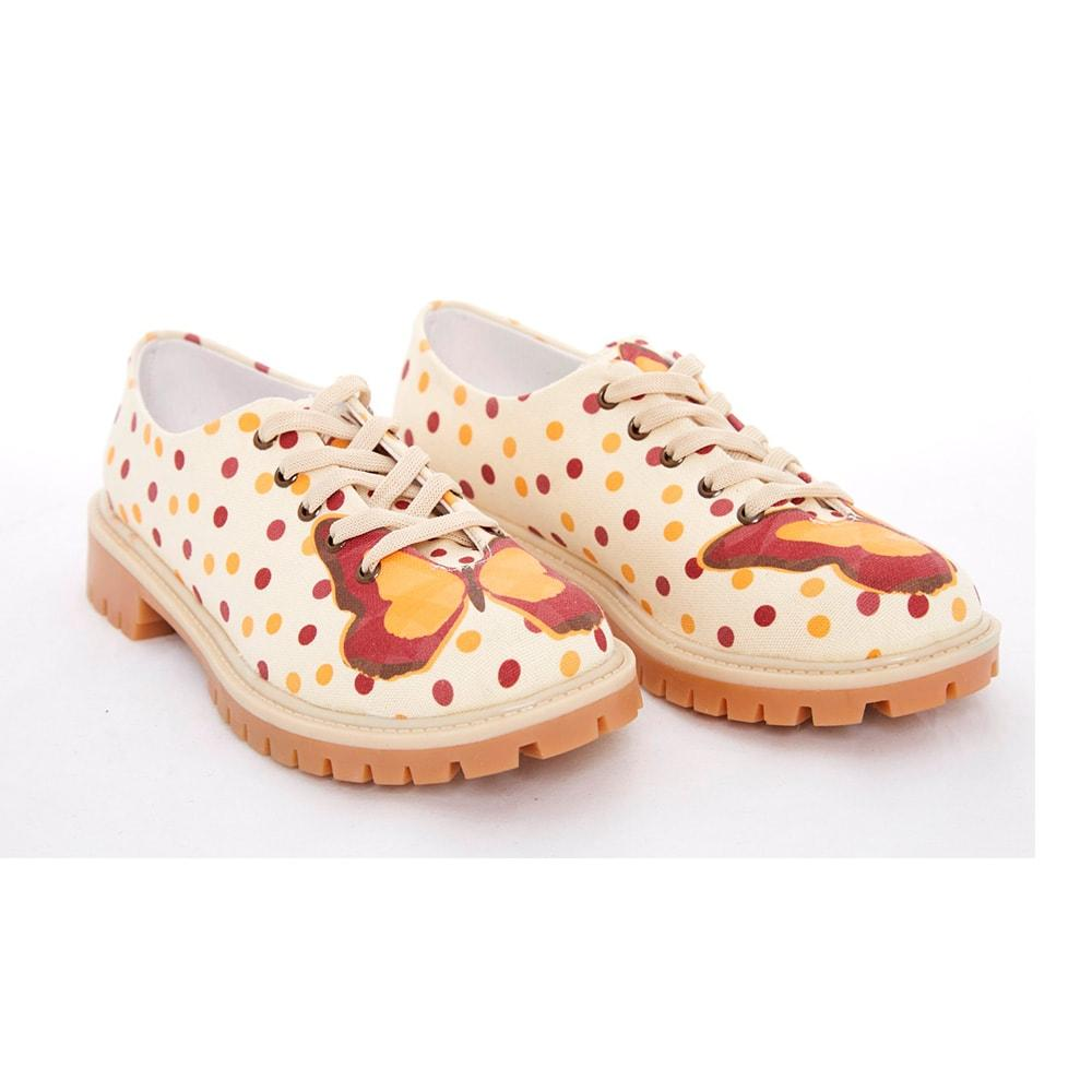 Butterfly and Dots Oxford Shoes TMK5503