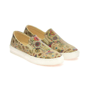 Skull Slip on Sneakers Shoes VN4005