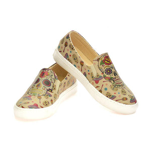GOBY Skull Slip on Sneakers Shoes VN4005